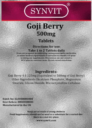 GOJI Berry 500mg 120 SYNVIT®